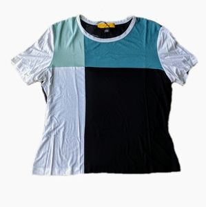 NWT St. John color block tee size large